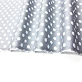 TAOSON Set of 2,100% Cotton 300 Thread Count Pillow Cover Pillowcase Pillow Protector Cushion Cover with Hidden Zipper Only Cover No Insert - European (Drak Gray/Grey & White Dot,26 x 26 inch)