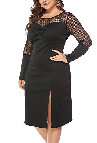 Vestido de ceremonia de encaje para mujer, sexy, escote en...