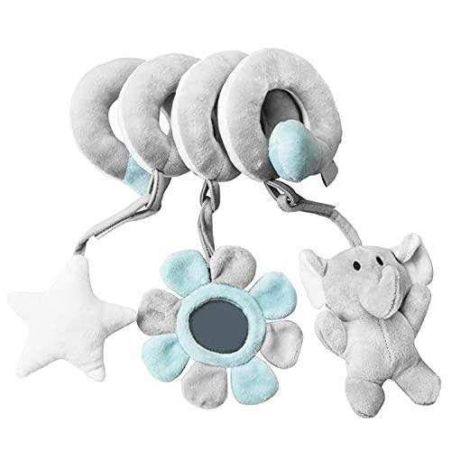 KKPLZZ Cochecito de bebé juguete cuna en espiral, cochecito de juguete, colgador de cama en espiral,juguetes de peluche, asiento de coche para bebé, juguetes de peluche en espiral,cochecito de juguete