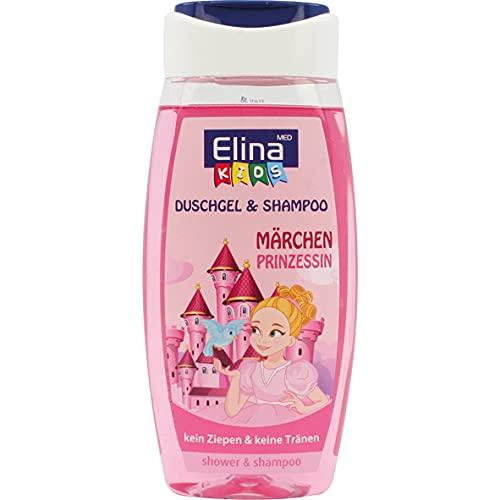 Elina med Gel douche et shampooing pour enfant - Princesse conte de fées.