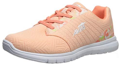 Avia Women's Avi-Solstice Sneaker, Peach Parfait/Fusion Coral/White/Sharp Green, 9.5 Medium US