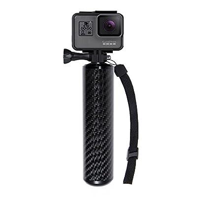 """SANDMARC Carbon Grip - Floating Waterproof Handle for GoPro Hero 6, Hero 5, 4, Session, Black, Silver, Hero+ LCD, 3+, 3, 2, HD and 1/4"""" Cameras by SANDMARC"""