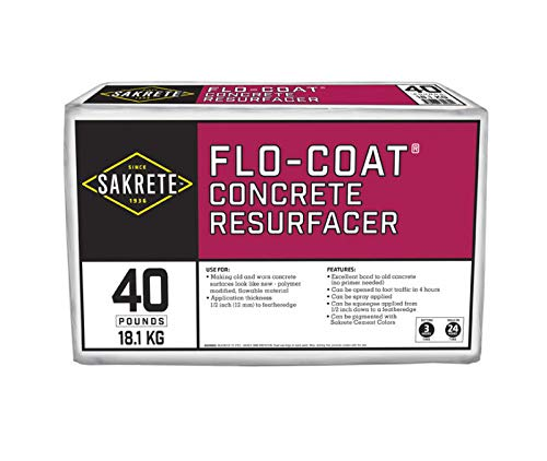 SAKRETE | Flo-Coat Concrete Resurfacer | 40 lb