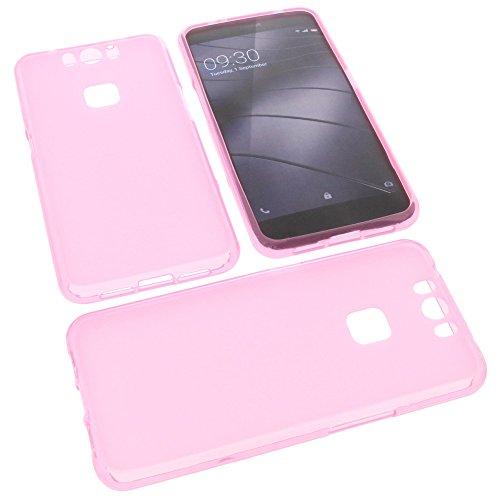 foto-kontor Tasche für Gigaset Me Pro Gummi TPU Schutz Handytasche pink