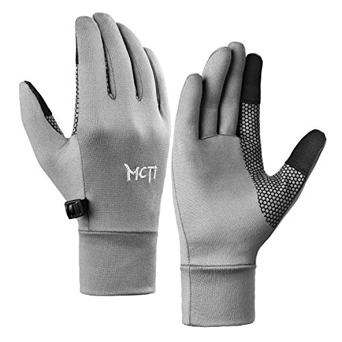 MCTi Handschuh Liner Touchscreen leicht für Winter Running Texting - Grau - Small