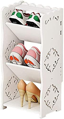WSMKSZ Puerta de Entrada Europea para el hogar, pequeño Zapatero Simple, económico, Mini gabinete para Zapatos Estrecho de baño Multicapa, Ahorra Espacio
