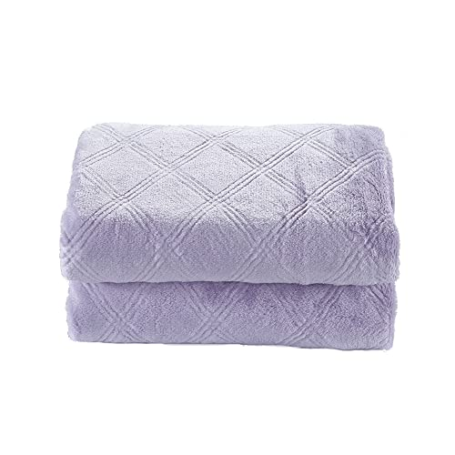 CREVENT Purple Soft and Warm Lightweight Baby Girls Throw Blanket, Cozy and Warm for Newborns/Infant/Toddler (30'X40' Lavender)