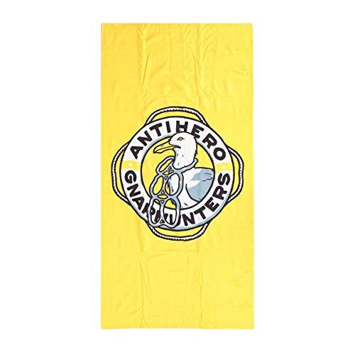 Anti Hero - Asciugamano per Skateboard, Colore: Giallo