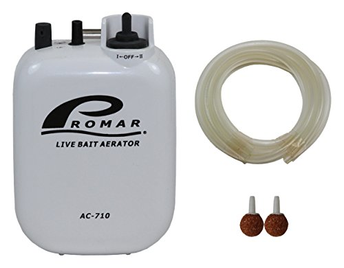 American Maple Inc 2 Speed Air Pump/Air Stone and Hose Runs on D Battery #AC-710, Multi, One Size