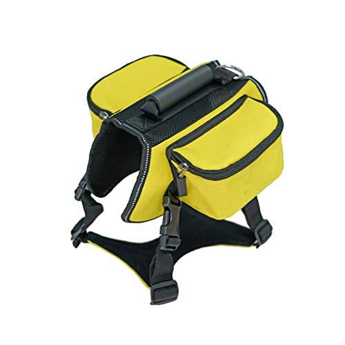 Mascotas fuera Viajar de mochilas Grandes perros Bolsas de autoventa al aire libre Mochilas remolcables (color : Amarillo-XL)