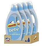 Norit Bebé - Detergente Líquido para Ropa de Bebé, Pieles Sensibles y Atópicas - Pack de 4...