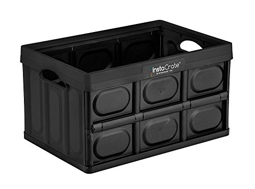 GreenMade InstaCrate Collapsible Storage Container, 12 gal, Black