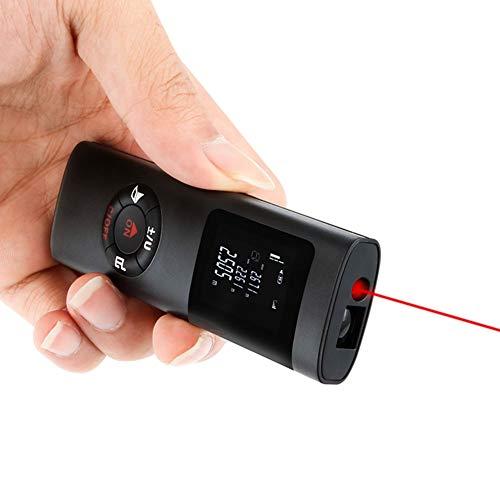Laser-Entfernungsmesser, 40 m Mini Entfernungsmesser Laser Entfernungsmesser Entfernungsmesser mit wiederaufladbarem Lithium-Akku, Messen von Entfernung, Fläche, Volumenberechnung