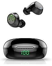 Auriculares Inalámbricos, Auriculares Bluetooth 5.0 con Micrófono, 36 Horas de reproducción con Caja de Carga, IPX7 Impermeable, para Gimnasio/Viajes/Deporte