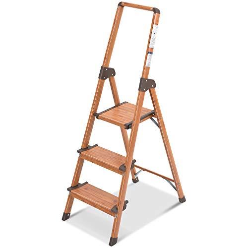 Kingrack Escaleras de Tijera, Escaleras Plegables de Aluminio con 3 escalones y...
