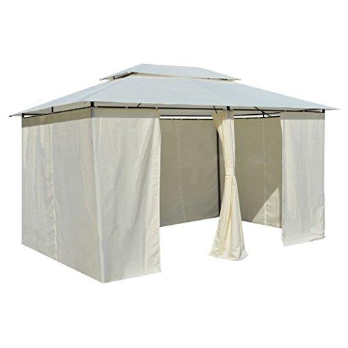 Wakects Garden Gazebo 3x4 m Folding Waterproof Gazebo for Outdoor Gazebo Party Patio Parties, Steel Frame, White