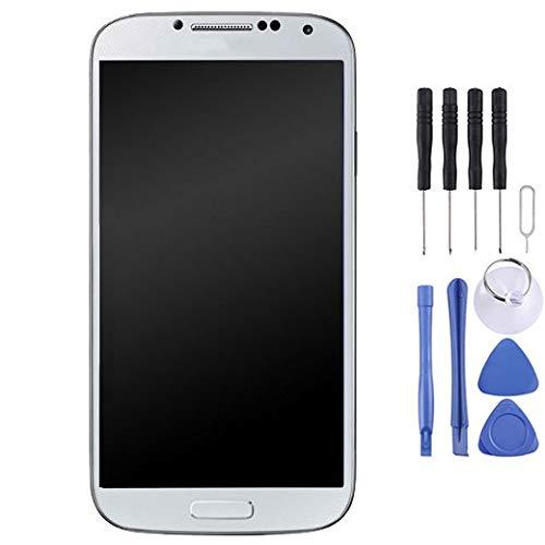 Piezas de Repuesto Pantalla LCD Original Asamblea digitalizador de Pantalla táctil con Marco for Samsung Galaxy S4 / i9505 (Color : Blanco)