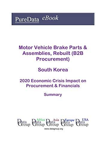 Motor Vehicle Brake Parts & Assemblies, Rebuilt (B2B Procurement) South Korea Summary: 2020 Economic Crisis Impact on Revenues & Financials (English Edition)