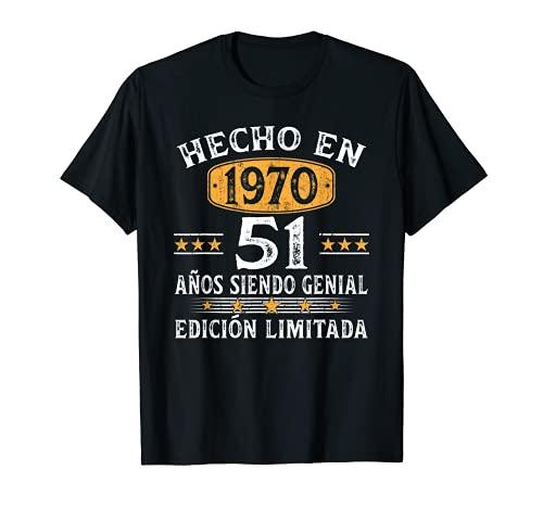 51 Años Cumpleaños Regalo Para Hombre Mujer Hecho En 1970 Camiseta