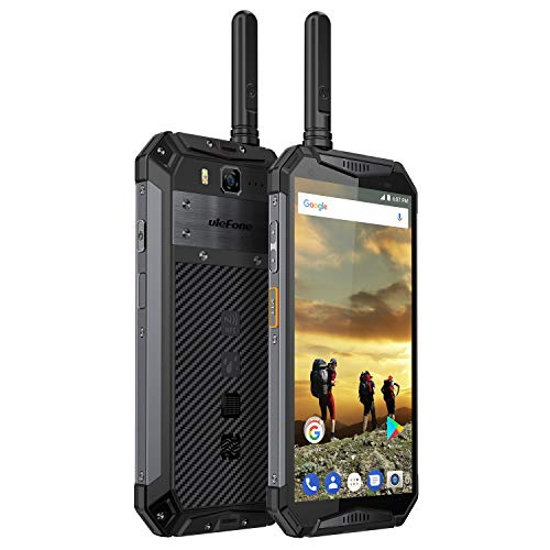 Ulefone Armor 3T, IP68 Smartphone Libre Resistente 4G Outdoor, Batería Grande 10300, IP69, WalkieTalkie, 5.7 Pantalla Grande 18:9, 4GB+64GB, Android 8.1, Doble SIM, OctaCore, Carga Rápida, NFC (Negro)