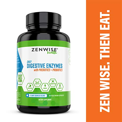 Digestive Enzymes Plus Prebiotics & Probiotics - Natural Support for Better Digestion & Lactose...