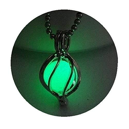 Grün leuchtende Laterne Halskette