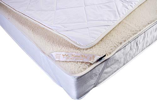 Merino Wool DOPPELL Unterbett 140 x 200 cm Merino Schurwolle Wolle Kinderbett Matratzenauflage Matratzenauflage Bettauflage Schonbezug 140x200cm Bettlakenspanner
