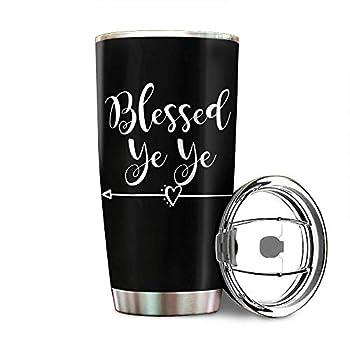Blessed Yeye Chinese Grandfather Grandpa Grandparents Day Stainless Steel Tumbler 20oz & 30oz Travel Mug