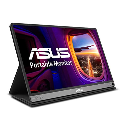 "ASUS ZenScreen 15.6"" 1080P Portable Monitor (MB16AC) - Full HD, IPS, Eye Care, Foldable Smart Case, Ultra-slim, Lightweight, USB-C Power Delivery, For Laptop, PC, Phone, Console , Black"