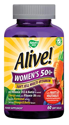 Nature's Way, Alive! Women`s 50+ doux Jells, 60 à croquers