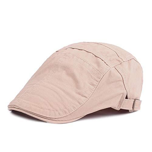 KCJMM-HAT Unisexe Béret de Loisirs Chapeau en Coton Réglable Casquettes,Bonnet de Canard Chapeau Chapeau de Soleil béret Dame mâle en Coton @ Beige