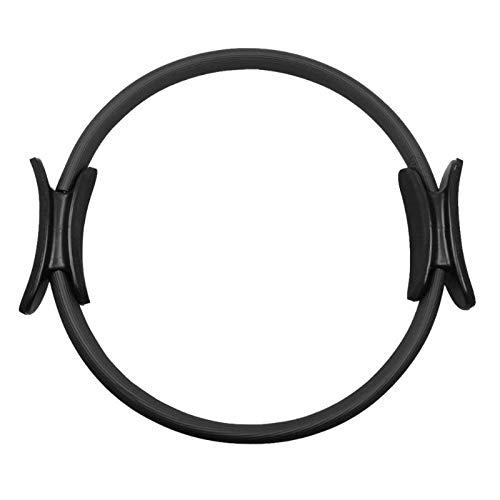 Chicya Anillo de doble asa para pilates – Doble agarre Magic Ejercicio Fitness Circle para quemar grasa negro