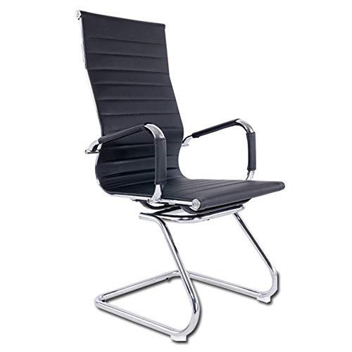 Bureaustoel, bureaustoel van leer, bureaustoel, computerstoel, bureaustoel, zwart, hoge rugleuning
