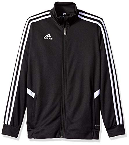 adidas Kids' Tiro Soccer Track Jacket, Black/White, Large