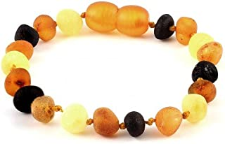 Amber Corner Raw Baltic Amber Baby Bracelet/Anklet Baroque Multicolour RBTB32
