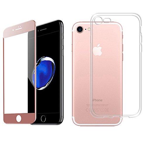 Luch iPhone 8/iPhone 7 TPU funda + 3D Full Coverage Panzerglasfolie silicona...