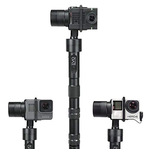 EVO GP-PRO 3 Axis GoPro Gimbal for Hero4, Hero5, Hero6 or Hero7 Black, Garmin Virb Ultra30, Yi 4K+ - 1 Year USA Warranty