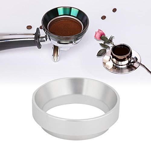 Anello dosatore - 58mm Anello dosatore Universale in Alluminio per caffè Sostituzione Imbuto dosatore Espresso (Colore : Argento)