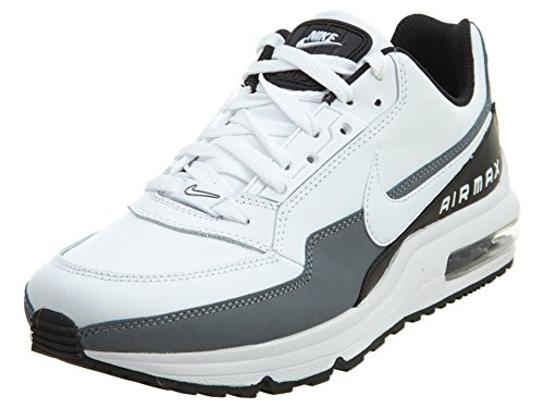 Nike Men's Air Max LTD 3 White/White/Black/Cool Grey Running Shoe (8 D(M) US)