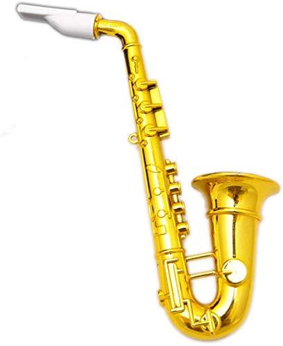 jameitop® 1 X Saxophon Spielzeug Tröte 28 cm Gold Party Fanfare Kinder Fasching Karneval