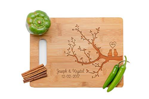 love tree Personalized Cutting Board, Wedding Gift, Laser engraved cutting board,Wedding Gift for couple, Kitchen decor