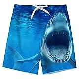 Spreadhoodie Adolescente Costume da Bagno Ragazzi Beachwear Summer Holiday Blu Squalo Shorts da Spiaggia Asciugatura Veloce per Vacanza alle Hawaii 10-12 Anni