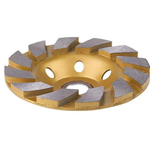 Muela abrasiva, Chacerls Disco abrasivo 10cm Disco de muela de segmento de diamante 6 agujeros para piedra de hormigón de mármol