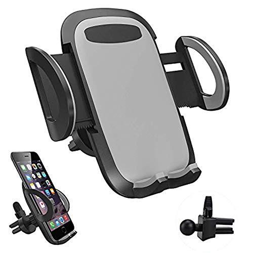 LURICO Soporte Movil Coche Ventilación, Universal 360 Grados Rotación Porta Movil Coche para Rejillas del Aire de Coche, Compatible con iPhone Samsung Xiaomi Huawei y Dispositivos GPS