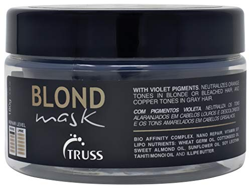Truss Blond Mask - Hair Mask for Blonde, Bleached and Gray Hair - Promotes Extra Hydration and Neutralizes Unwanted Orange Tones and Brassiness, Contains Violet Pigments