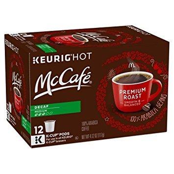 McCaf Decaf Premium Roast Medium K-Cup Pods, 4.12 oz. - 12 Count (Pack of 3) [Retail Packaging]