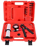 8MILELAKE 21pcs Handheld Vacuum Pump Set Tester Compatible for Automotive with Adapters Brake Bleeder Test Kit