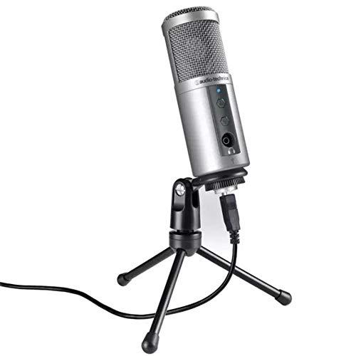 SANRENXING Microfoon, 3,5mm condensator opname microfoon met microfoonstandaard voor laptop, iPh0ne, iPad, Mac, Smartphone - Gaming, zingen,