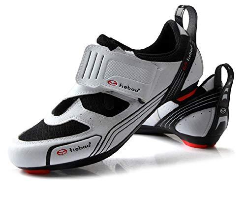TieBao Professional Road Bike MTB Shoes Compatibility Look Black Orange