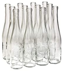 Case of 12 - Clear/Flint Glass Stretch Hock shaped wine bottles - 375 ml Take the elegance of a Stretch Hock and add the daintiness of a half size (375 ml) bottle! In Flint, this bottle is perfect for wines with vibrant color - from deep golds to ric...